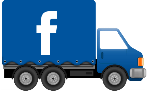 kleine truck als icoon voor facebook pagina Dennis Automotive Recruitment
